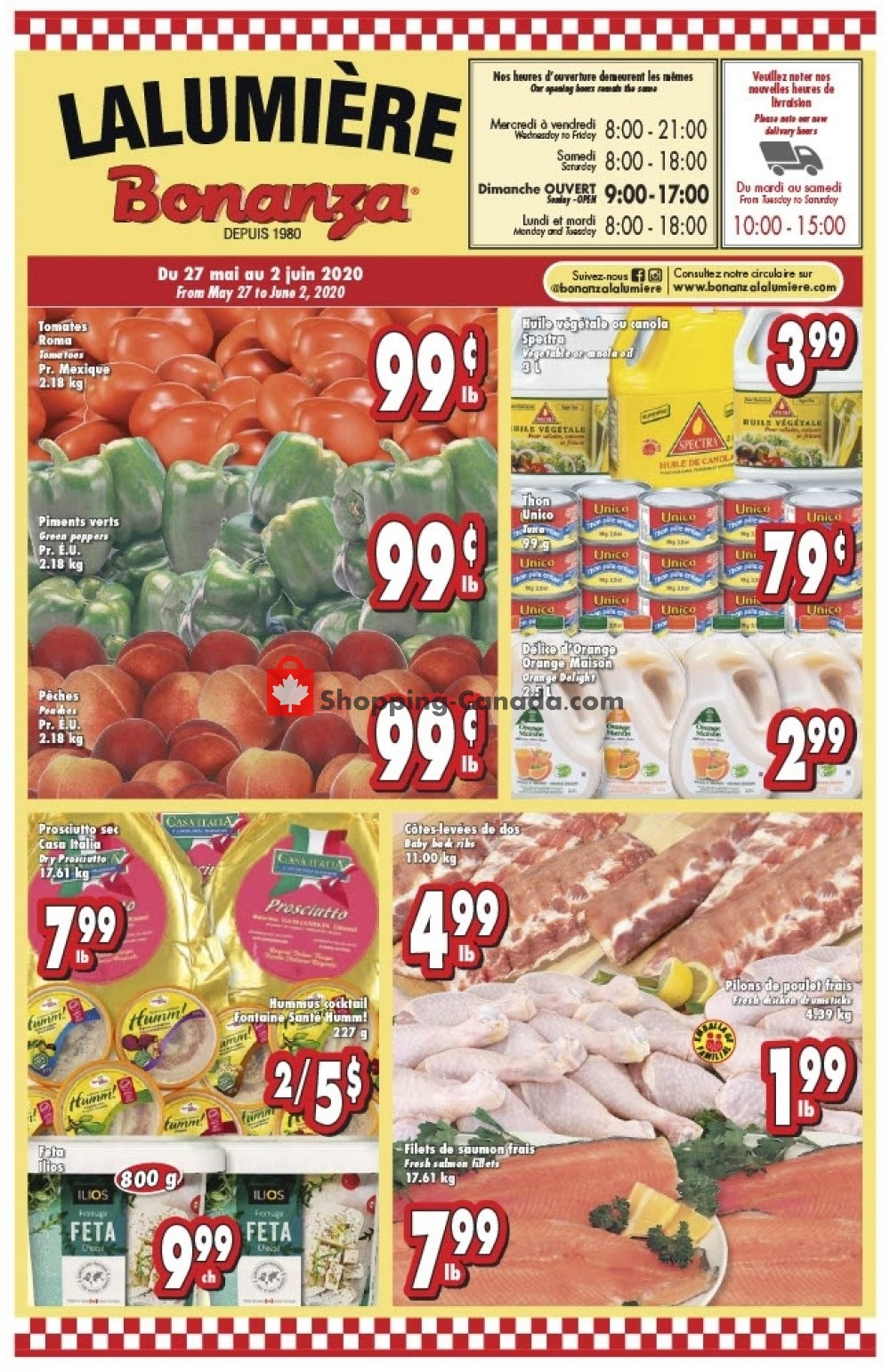 Flyer Bonanza Canada - from Wednesday May 27, 2020 to Tuesday June 2, 2020