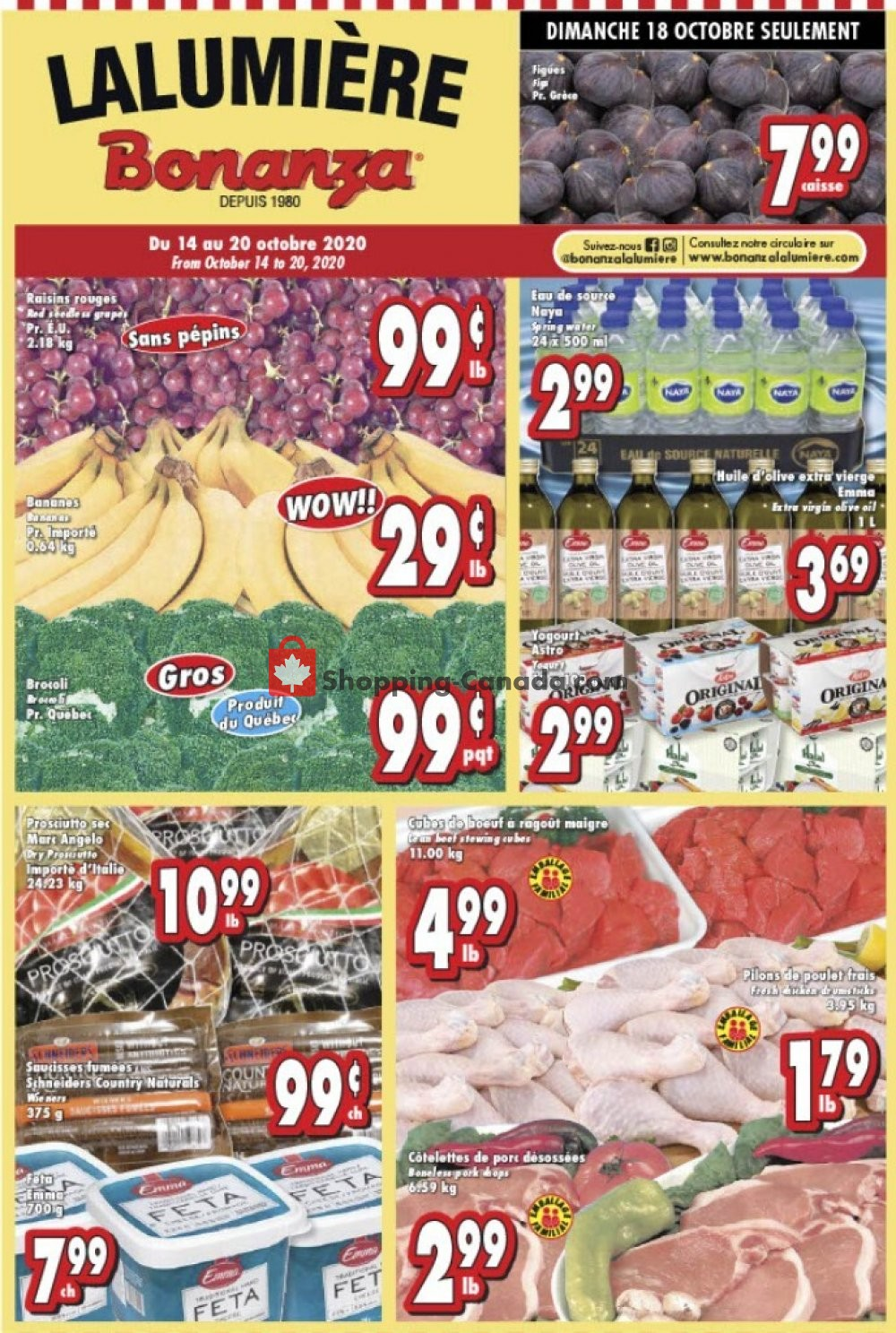 Flyer Bonanza Canada - from Wednesday October 14, 2020 to Tuesday October 20, 2020