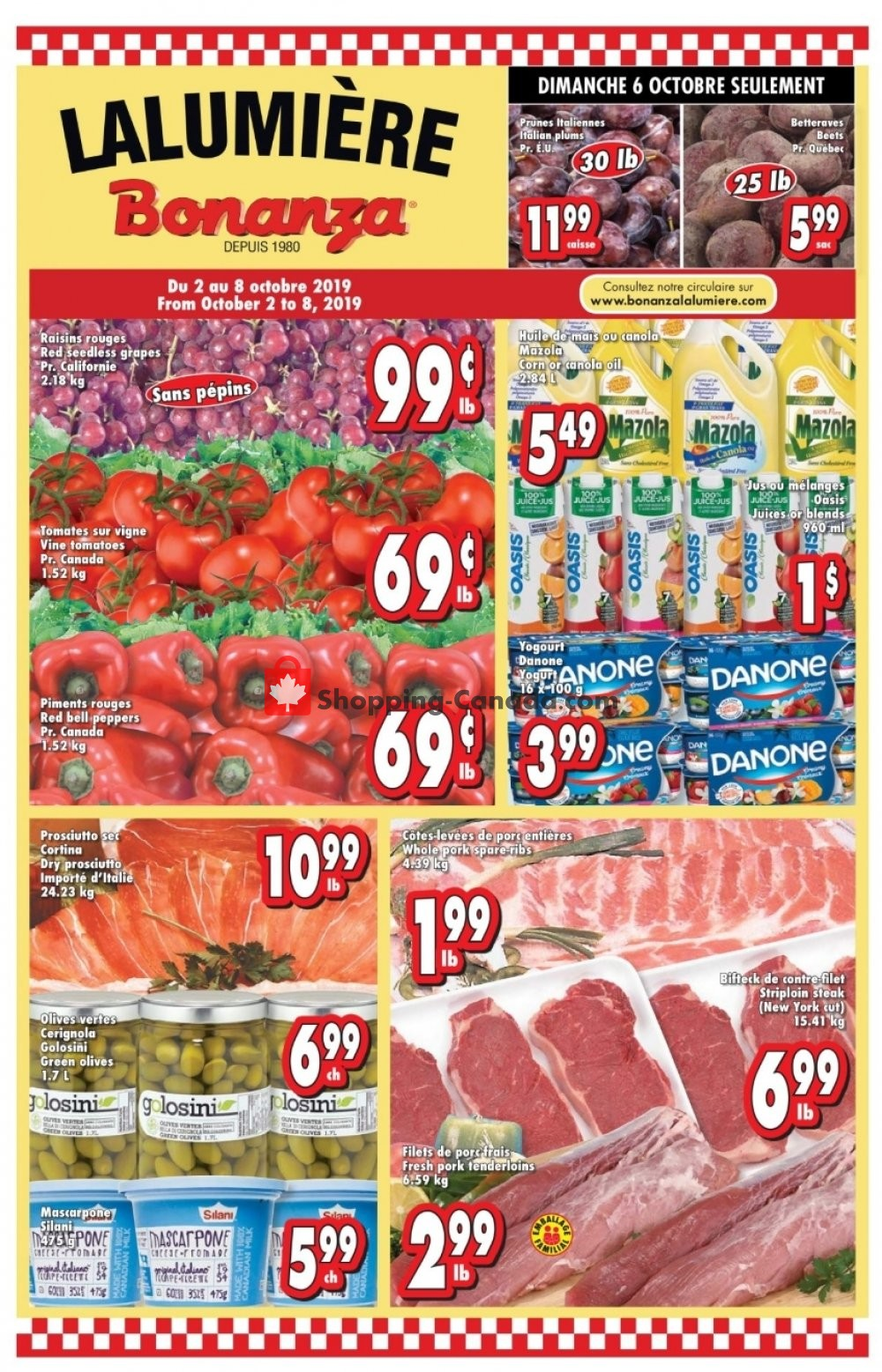 Flyer Bonanza Canada - from Wednesday October 2, 2019 to Tuesday October 8, 2019