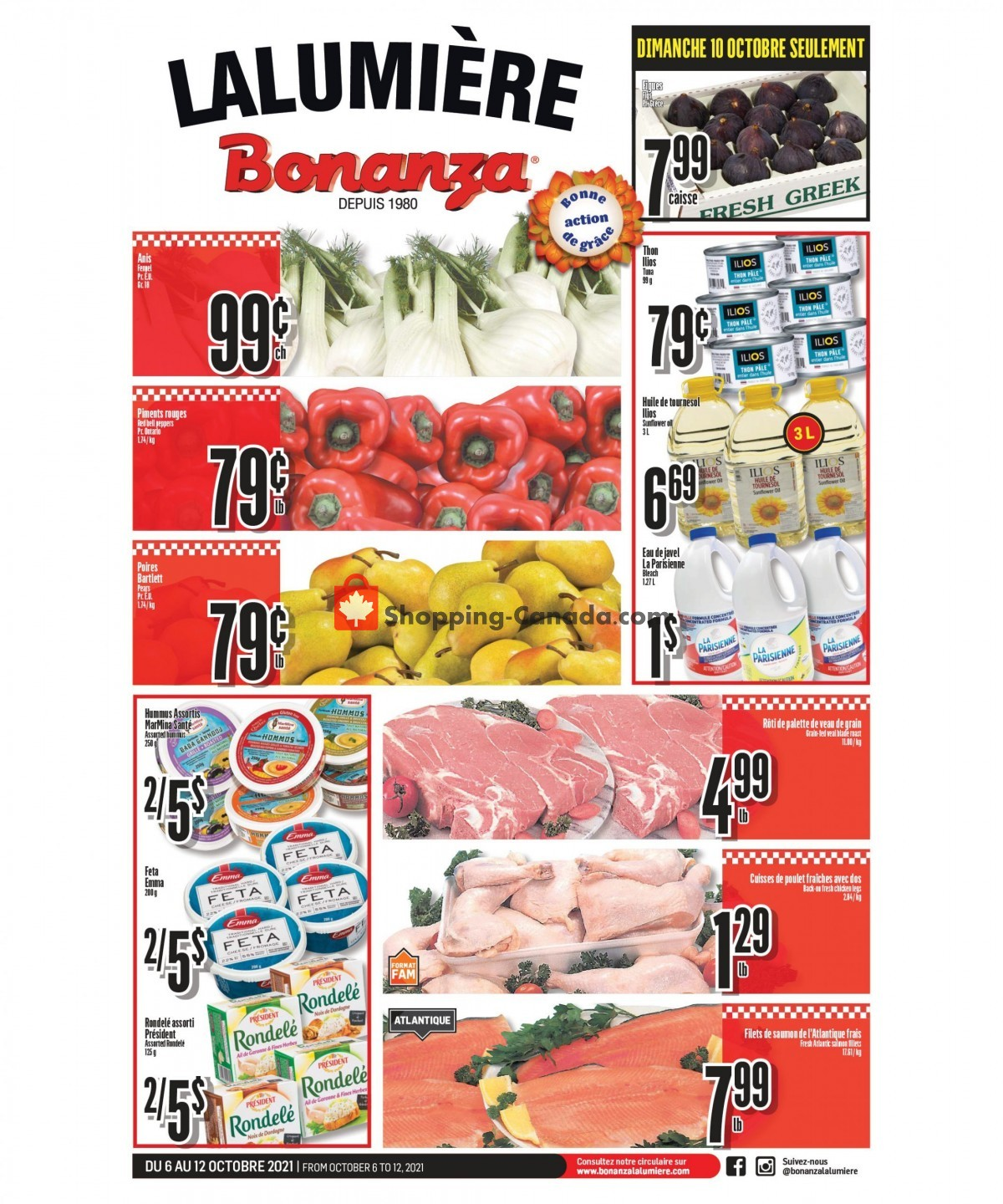 Flyer Bonanza Canada - from Wednesday October 6, 2021 to Tuesday October 12, 2021