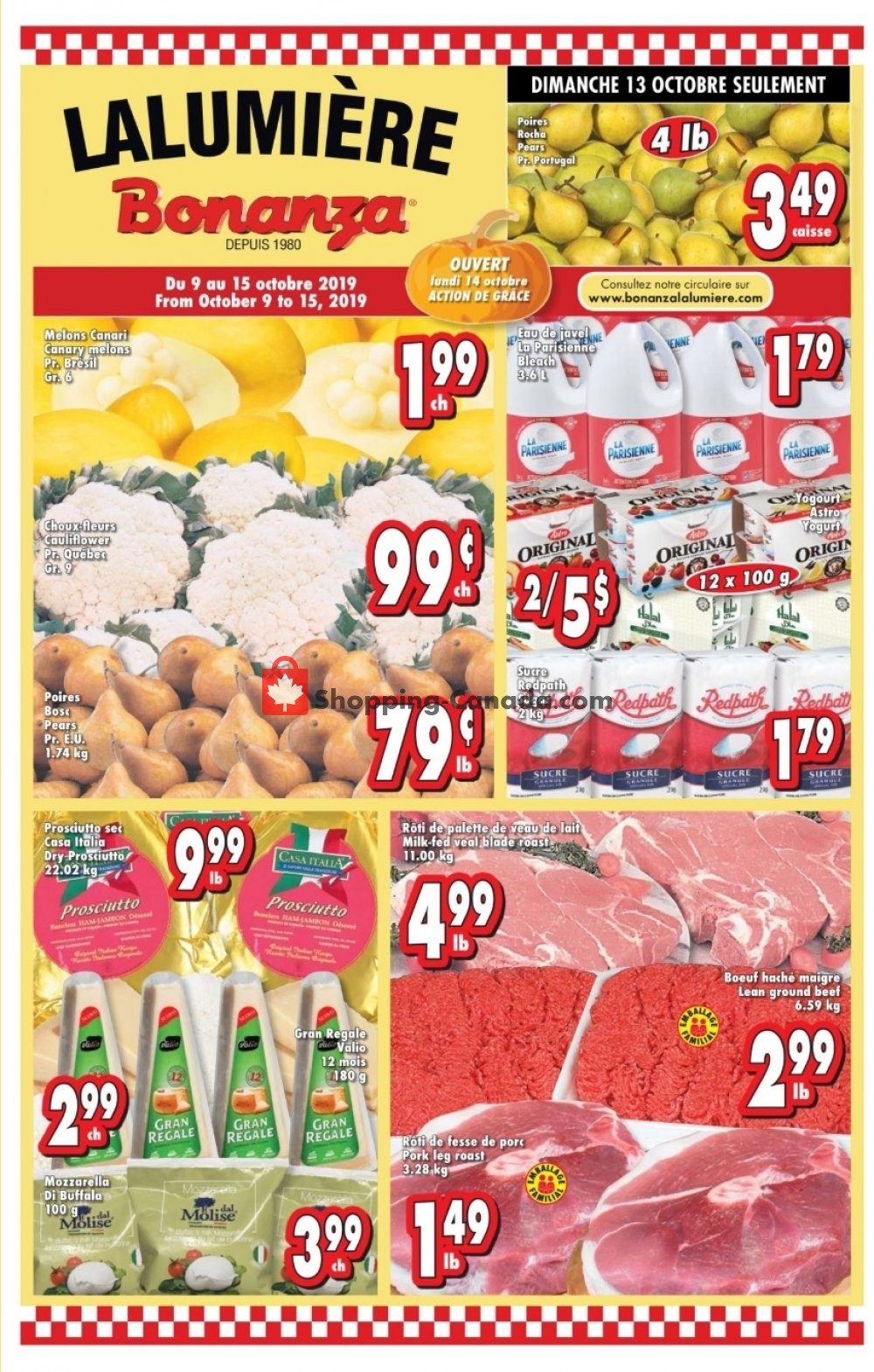 Flyer Bonanza Canada - from Wednesday October 9, 2019 to Tuesday October 15, 2019