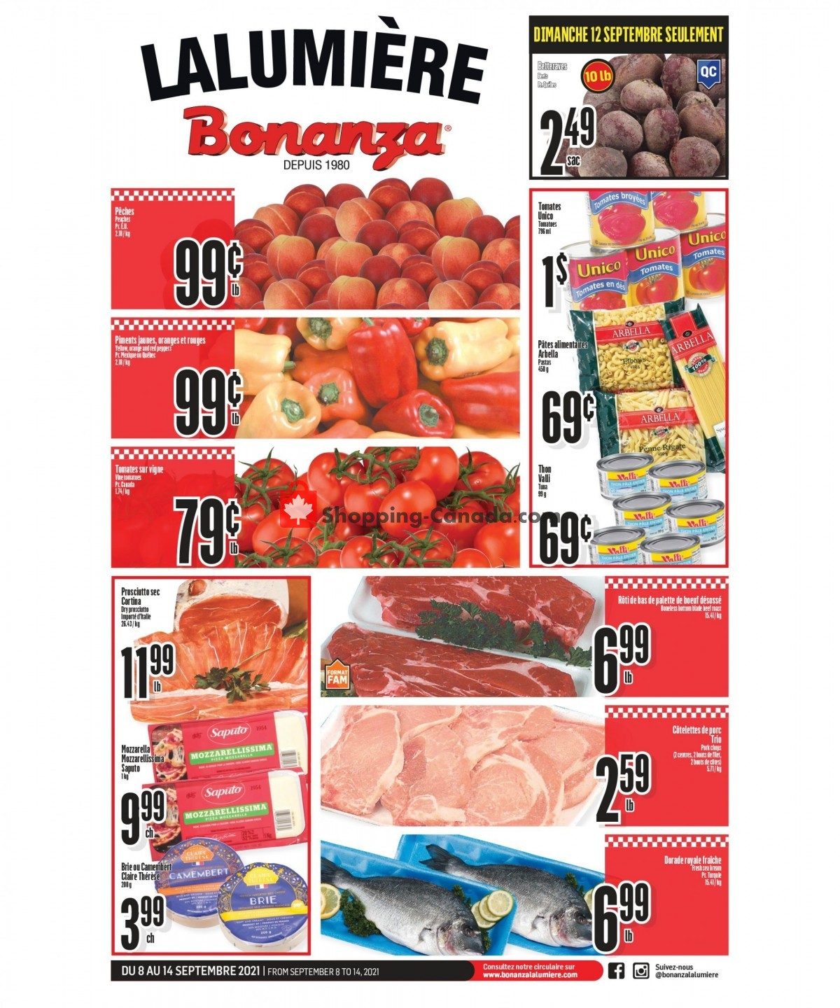 Flyer Bonanza Canada - from Wednesday September 8, 2021 to Tuesday September 14, 2021