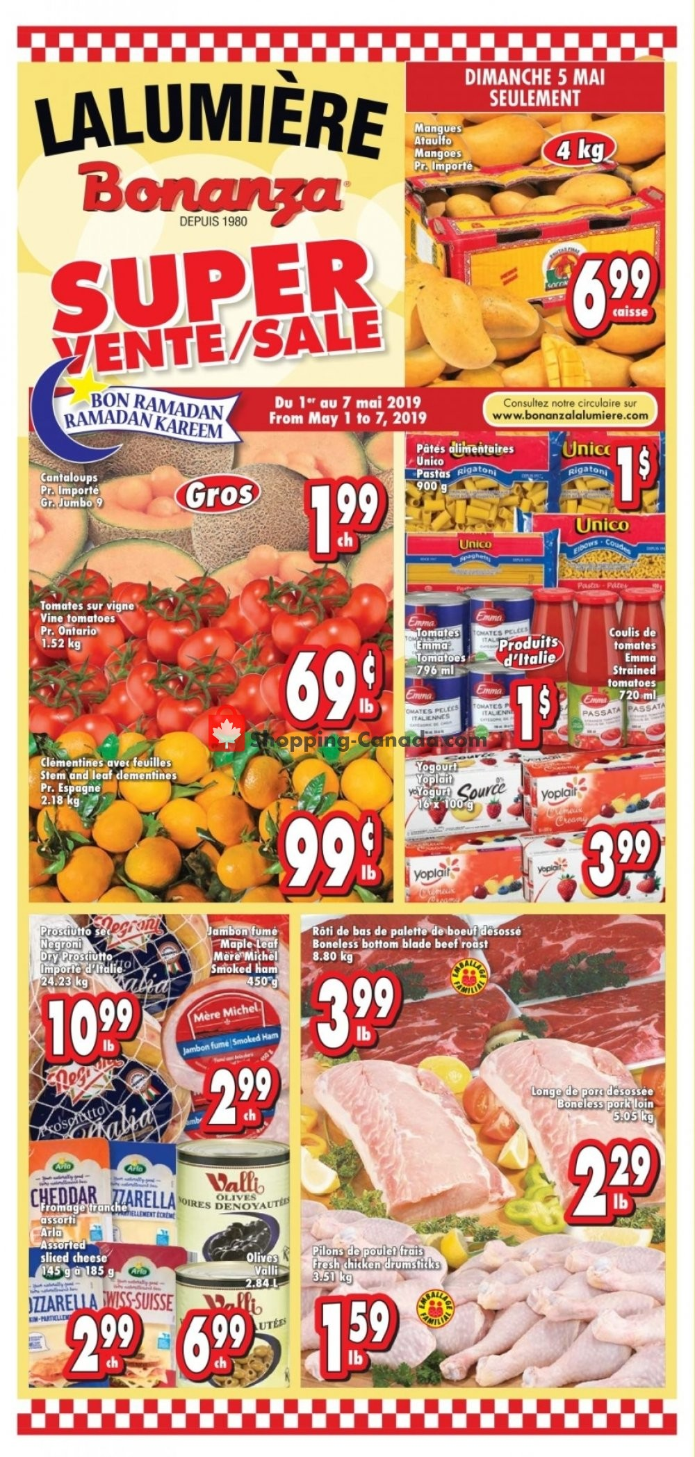 Flyer Bonanza Canada - from Wednesday May 1, 2019 to Tuesday May 7, 2019