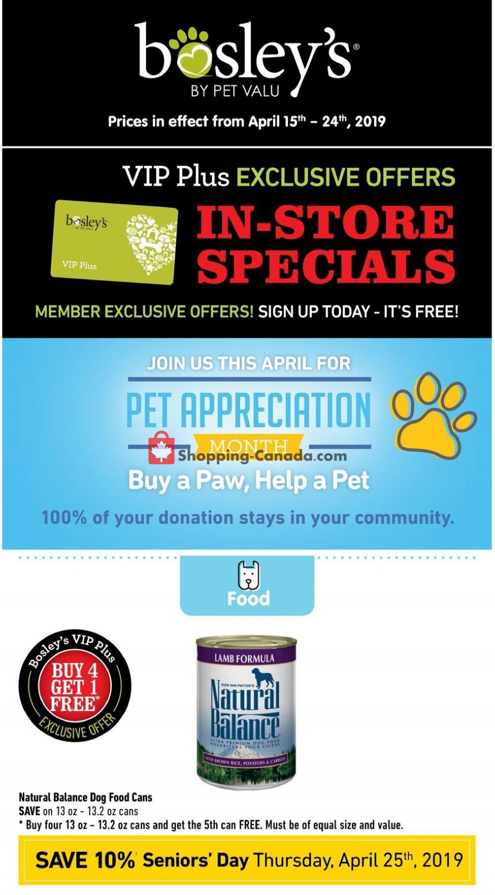 Flyer Bosley's Canada - from Monday April 15, 2019 to Wednesday April 24, 2019