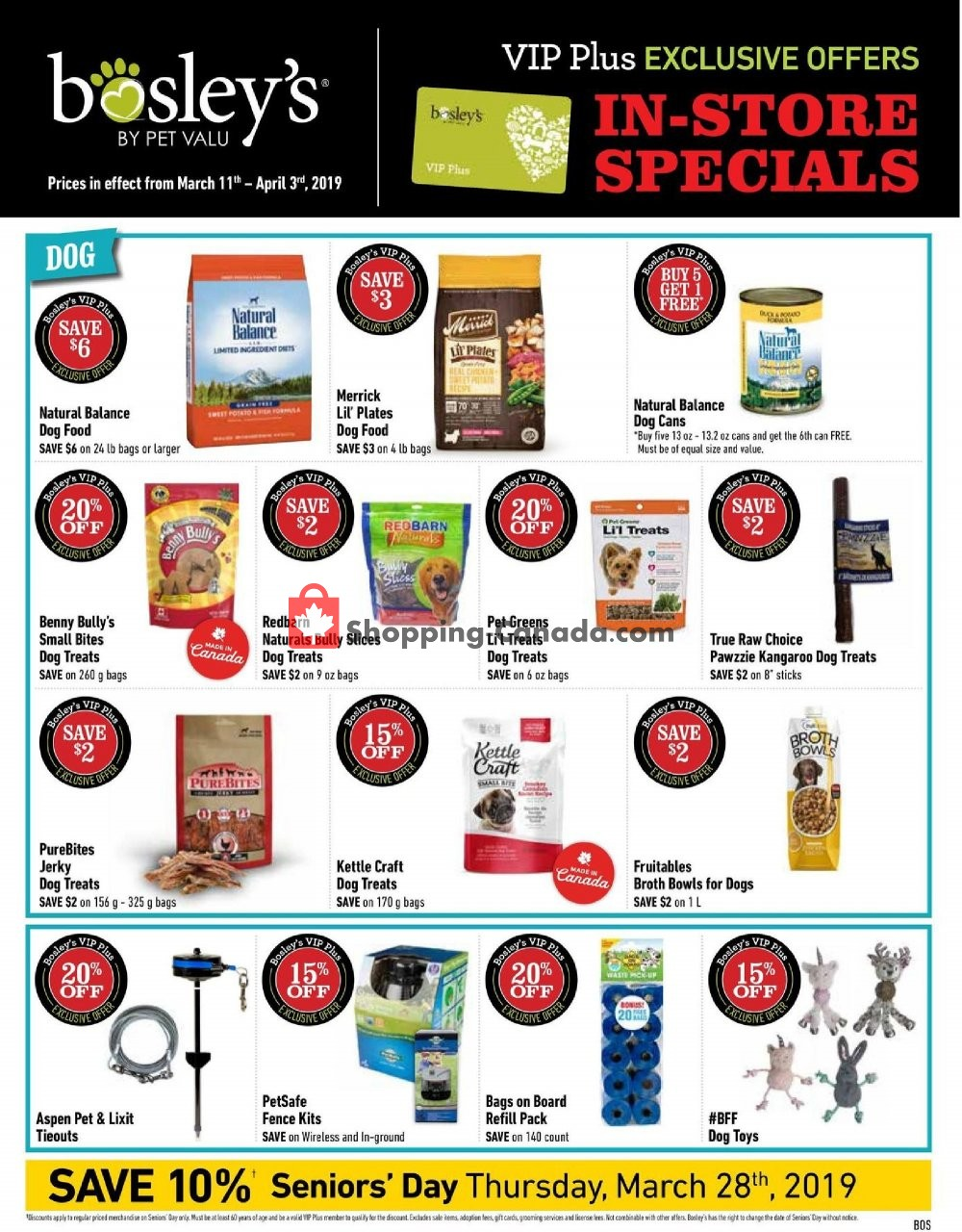 Flyer Bosley's Canada - from Monday March 11, 2019 to Wednesday April 3, 2019