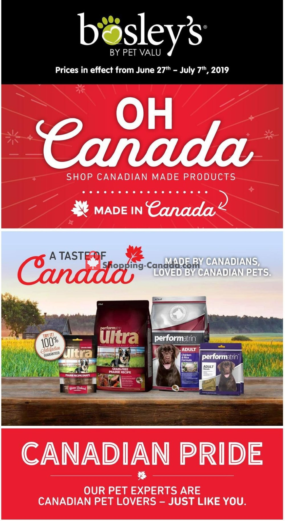Flyer Bosley's Canada - from Thursday June 27, 2019 to Sunday July 7, 2019