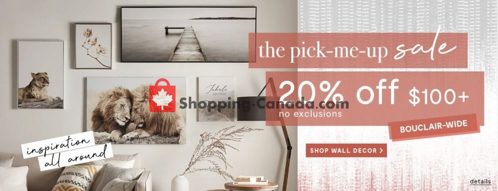 Flyer Bouclair Canada - from Wednesday April 22, 2020 to Tuesday April 28, 2020