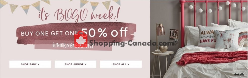 Flyer Bouclair Canada - from Wednesday August 7, 2019 to Tuesday August 13, 2019