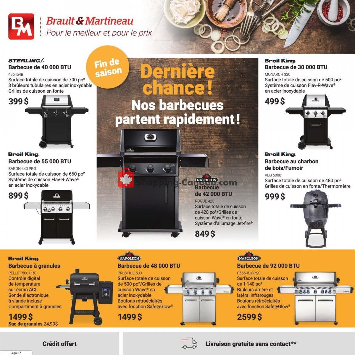 Flyer Brault & Martineau Canada - from Friday September 3, 2021 to Friday October 15, 2021
