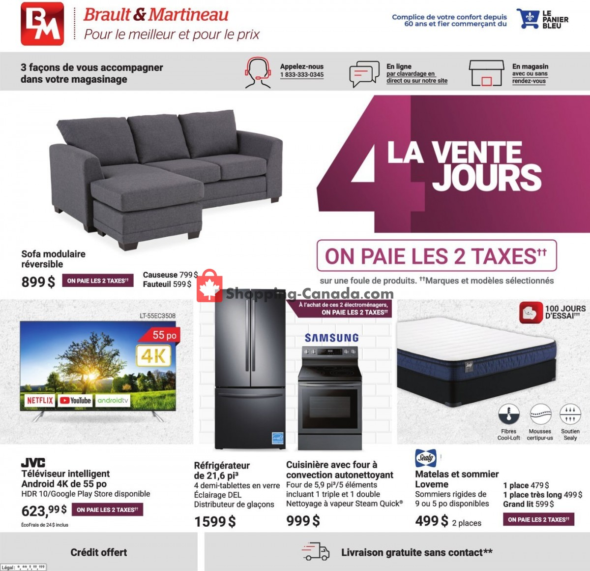 Flyer Brault & Martineau Canada - from Thursday April 1, 2021 to Monday April 5, 2021