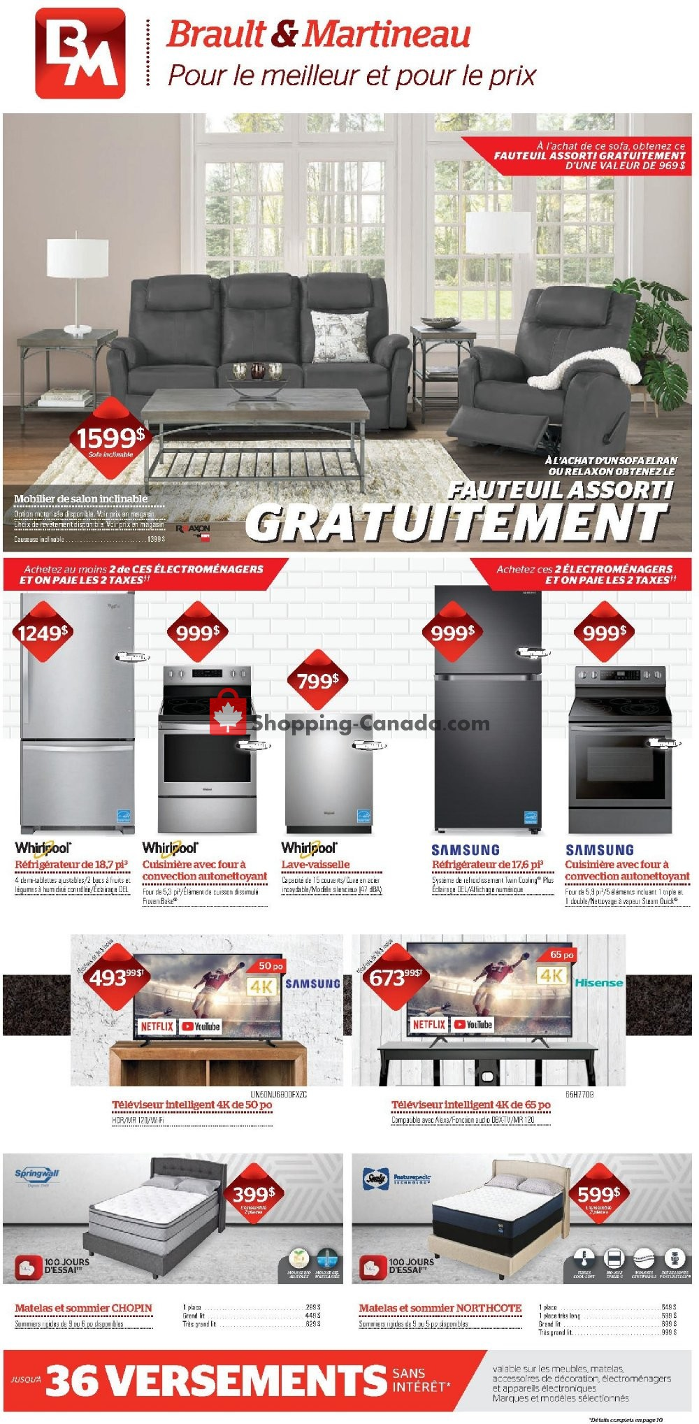 Flyer Brault & Martineau Canada - from Monday February 3, 2020 to Wednesday February 26, 2020