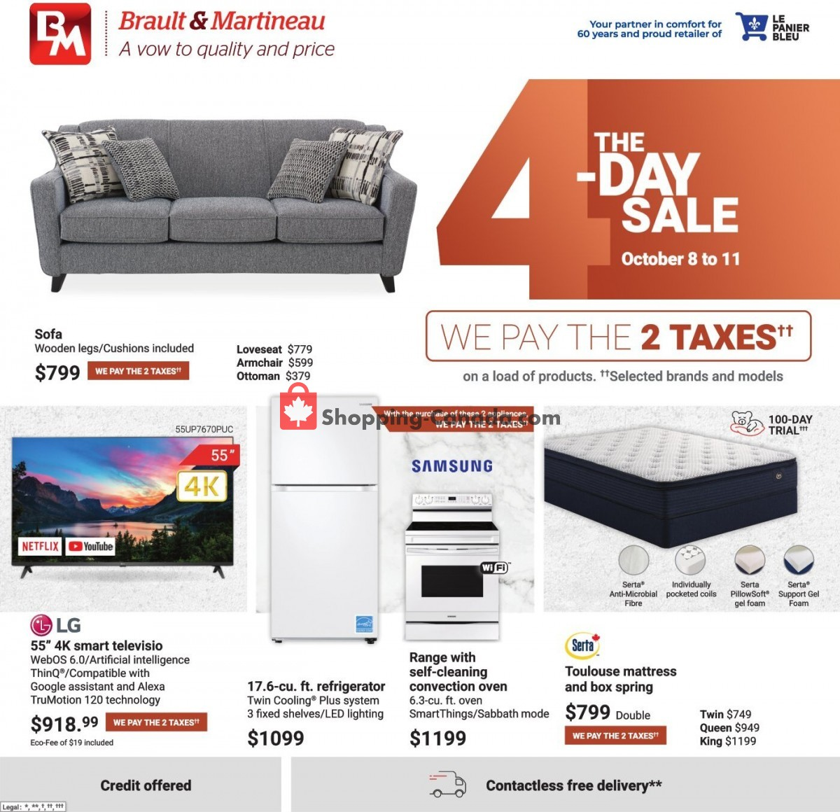 Flyer Brault & Martineau Canada - from Friday October 8, 2021 to Monday October 11, 2021