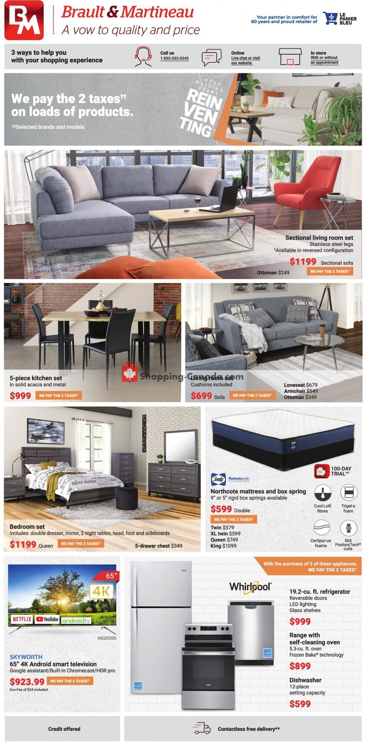 Flyer Brault & Martineau Canada - from Thursday April 22, 2021 to Thursday May 20, 2021