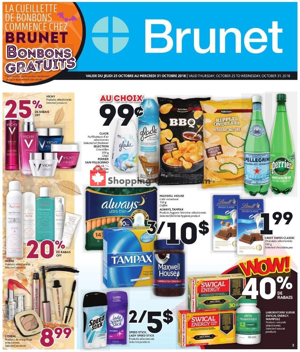 Flyer Brunet Canada - from Thursday October 25, 2018 to Wednesday October 31, 2018