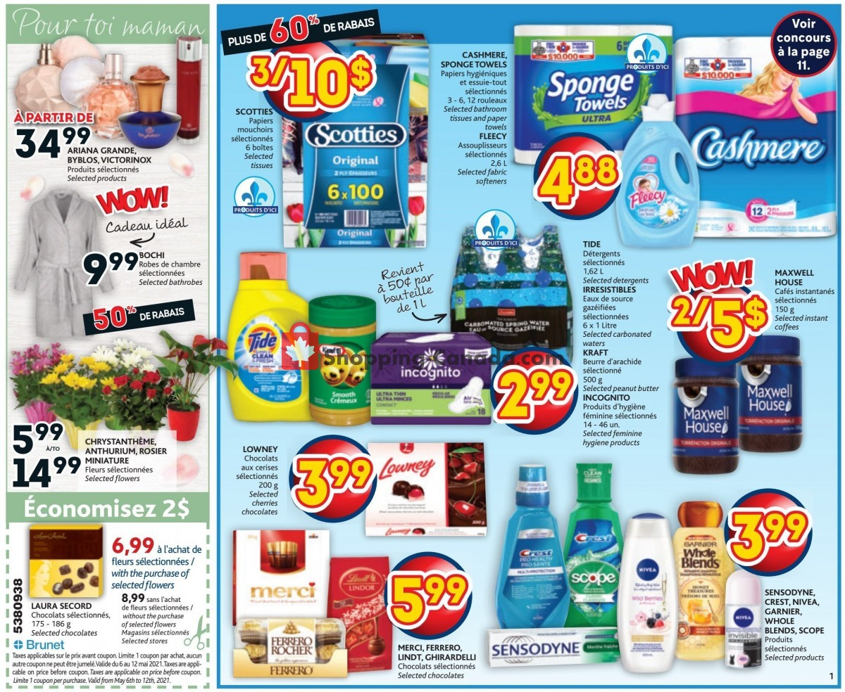 Flyer Brunet Canada - from Thursday May 6, 2021 to Wednesday May 12, 2021