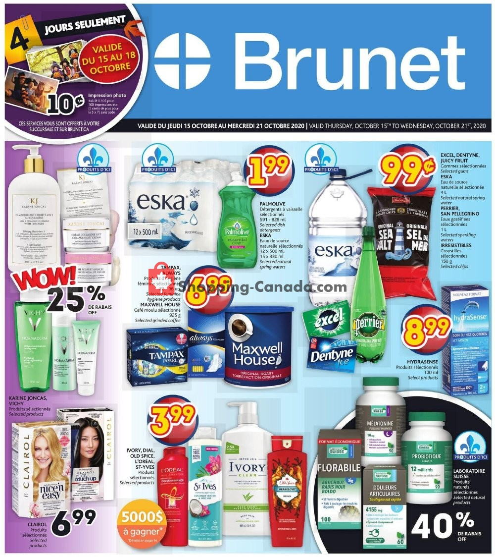 Flyer Brunet Canada - from Thursday October 15, 2020 to Wednesday October 21, 2020