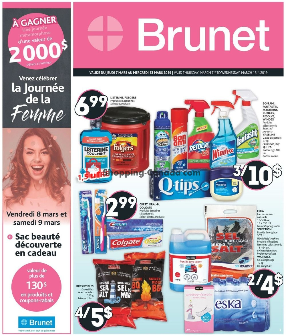 Flyer Brunet Canada - from Thursday March 7, 2019 to Wednesday March 13, 2019