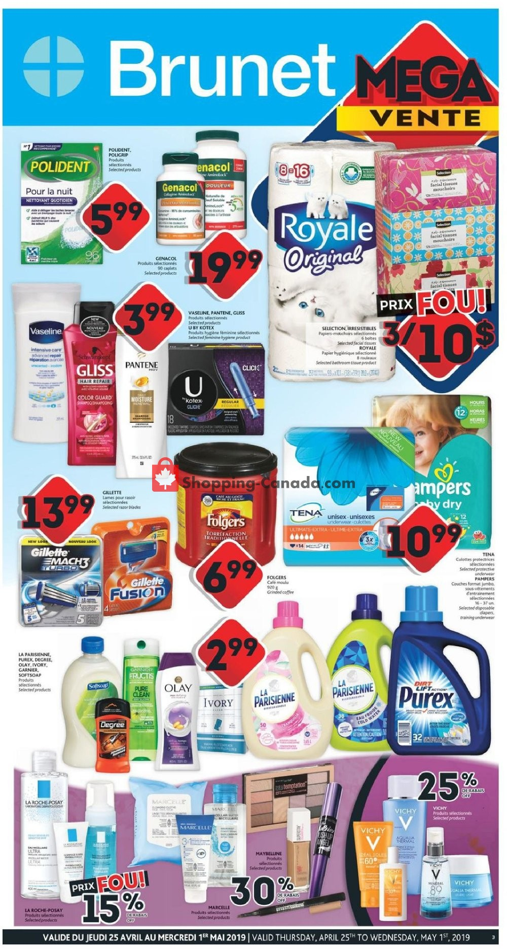 Flyer Brunet Canada - from Thursday April 25, 2019 to Wednesday May 1, 2019