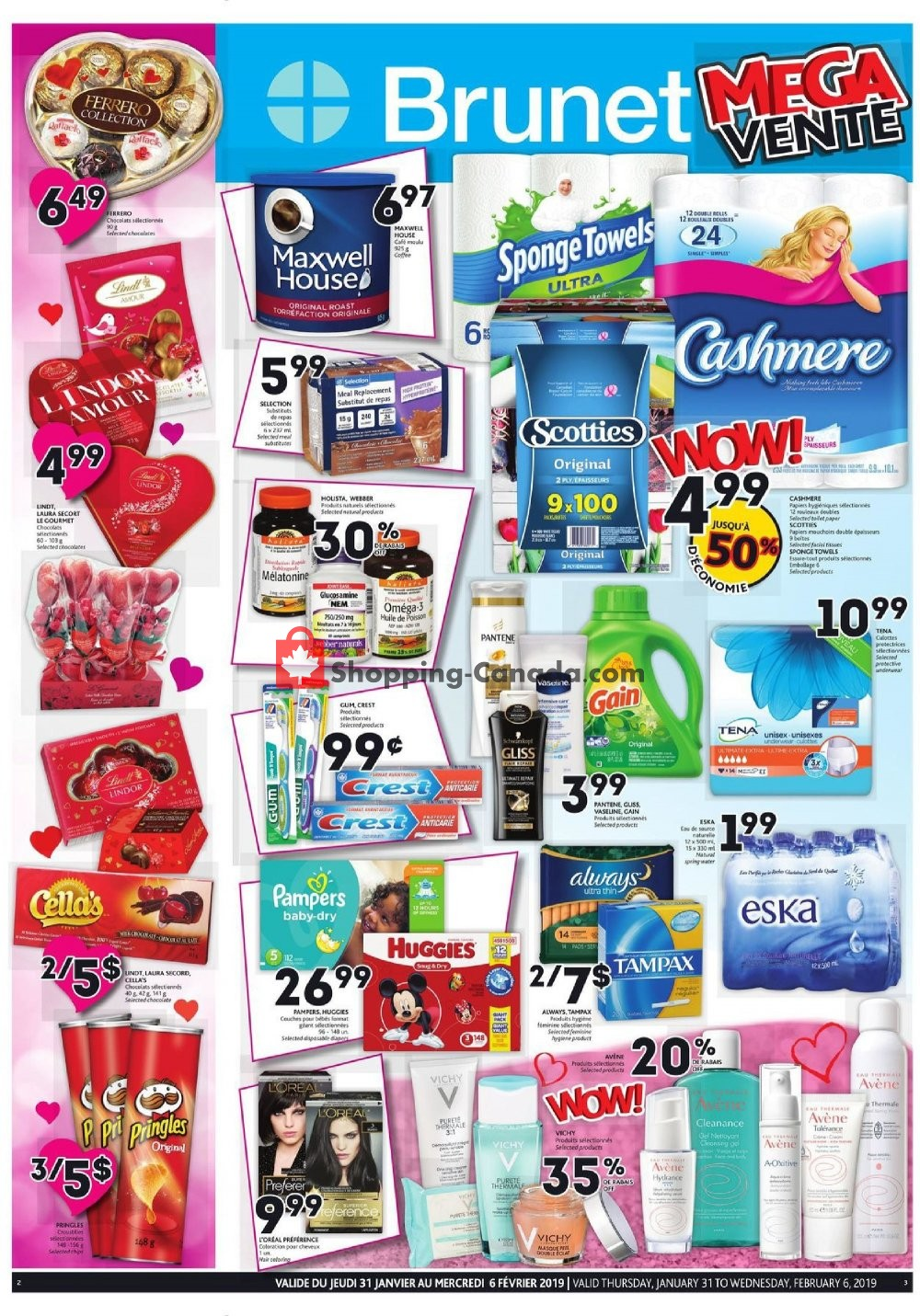 Flyer Brunet Canada - from Thursday January 31, 2019 to Wednesday February 6, 2019