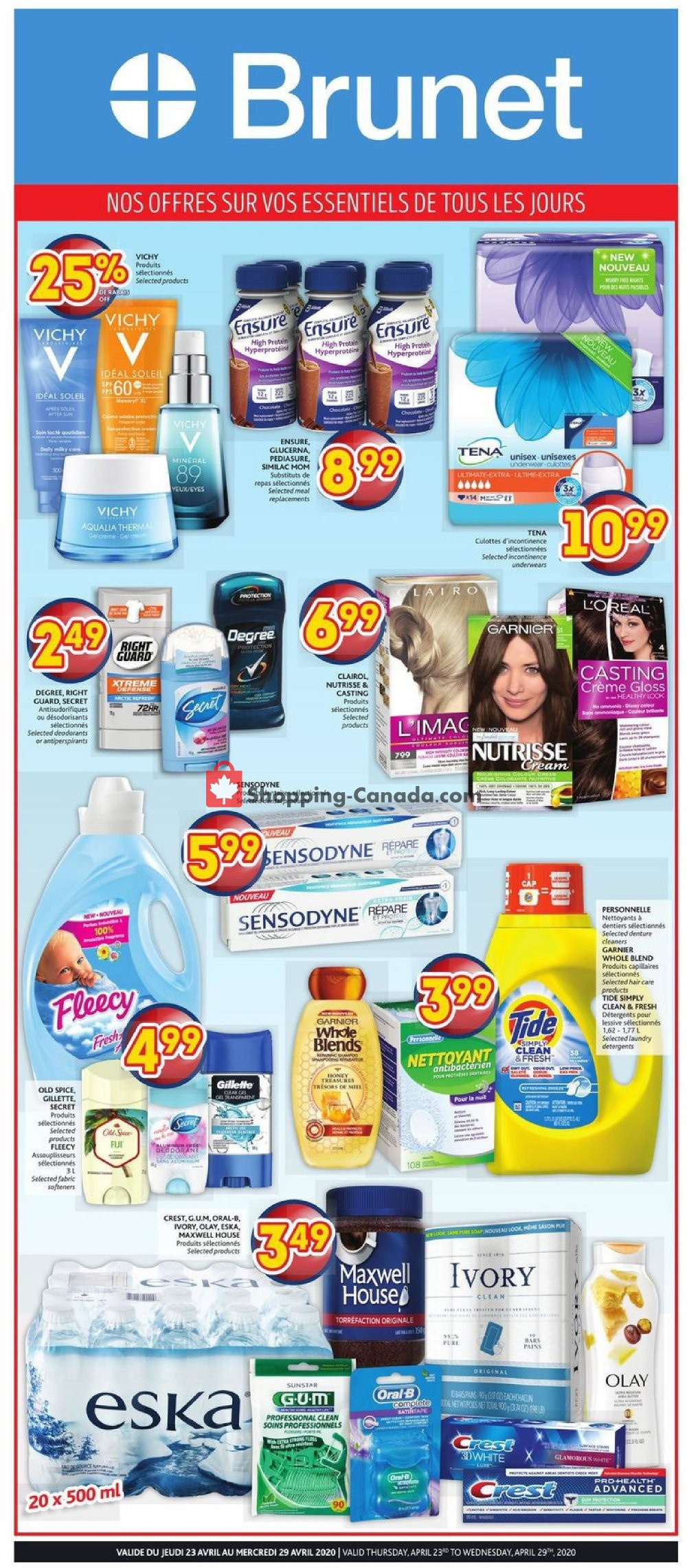 Flyer Brunet Canada - from Thursday April 23, 2020 to Wednesday April 29, 2020
