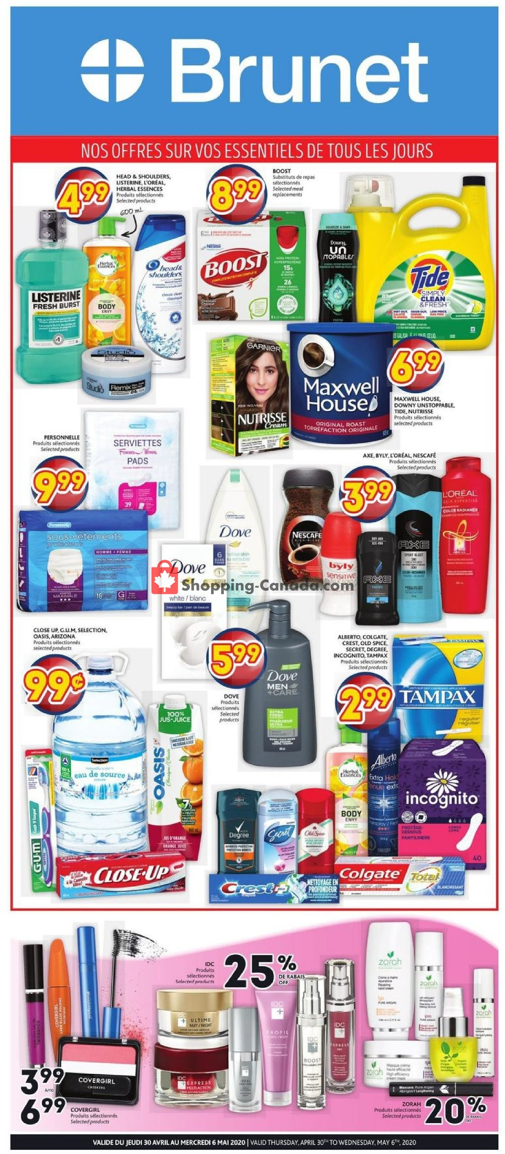 Flyer Brunet Canada - from Thursday April 30, 2020 to Wednesday May 6, 2020