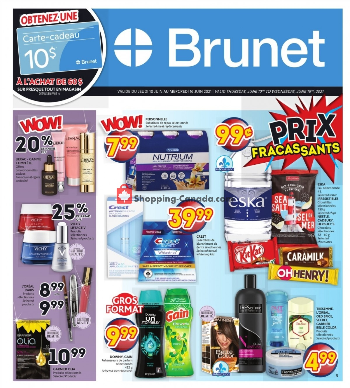 Flyer Brunet Canada - from Thursday June 10, 2021 to Wednesday June 16, 2021