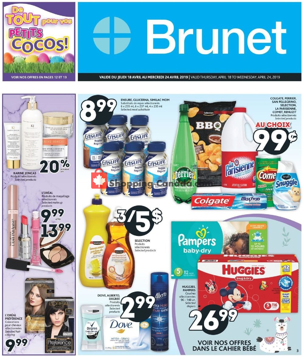 Flyer Brunet Canada - from Thursday April 18, 2019 to Wednesday April 24, 2019