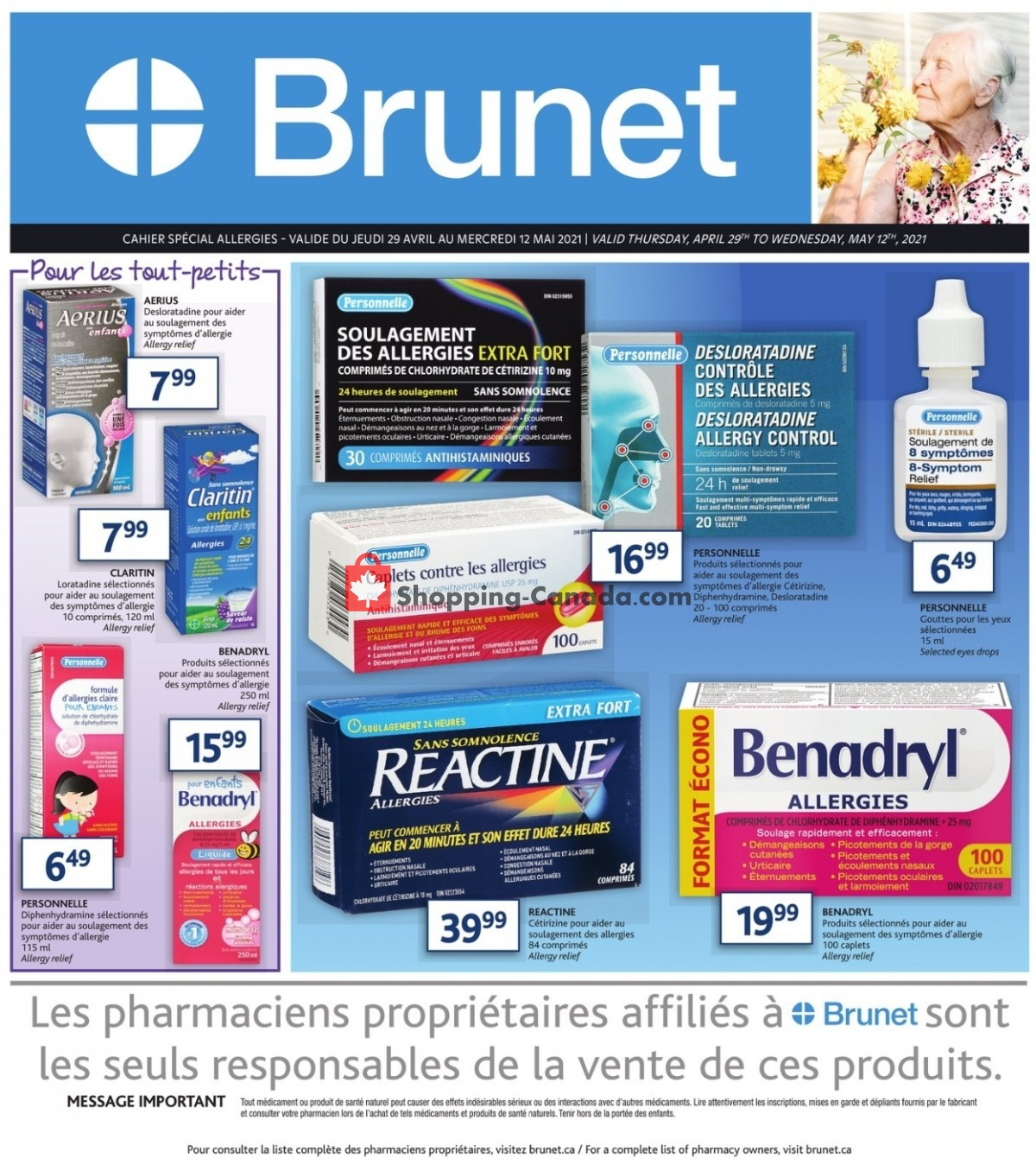 Flyer Brunet Canada - from Thursday April 29, 2021 to Wednesday May 12, 2021