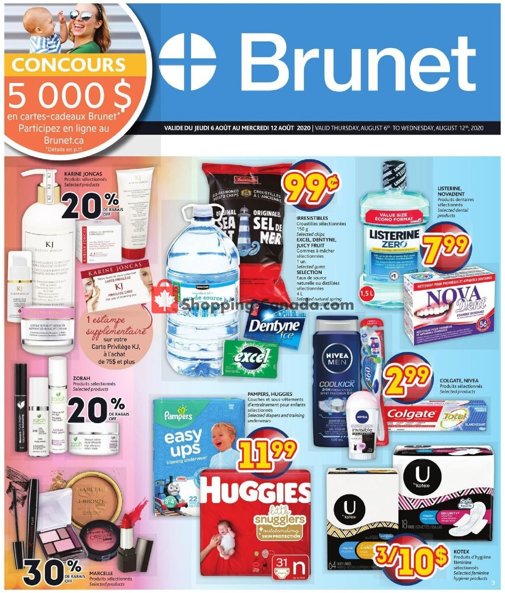 Flyer Brunet Canada - from Thursday August 6, 2020 to Wednesday August 12, 2020