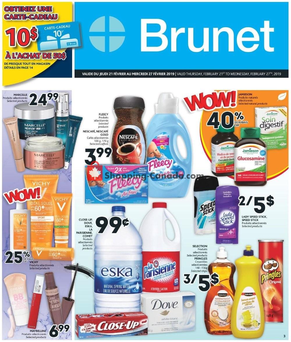 Flyer Brunet Canada - from Thursday February 21, 2019 to Wednesday February 27, 2019