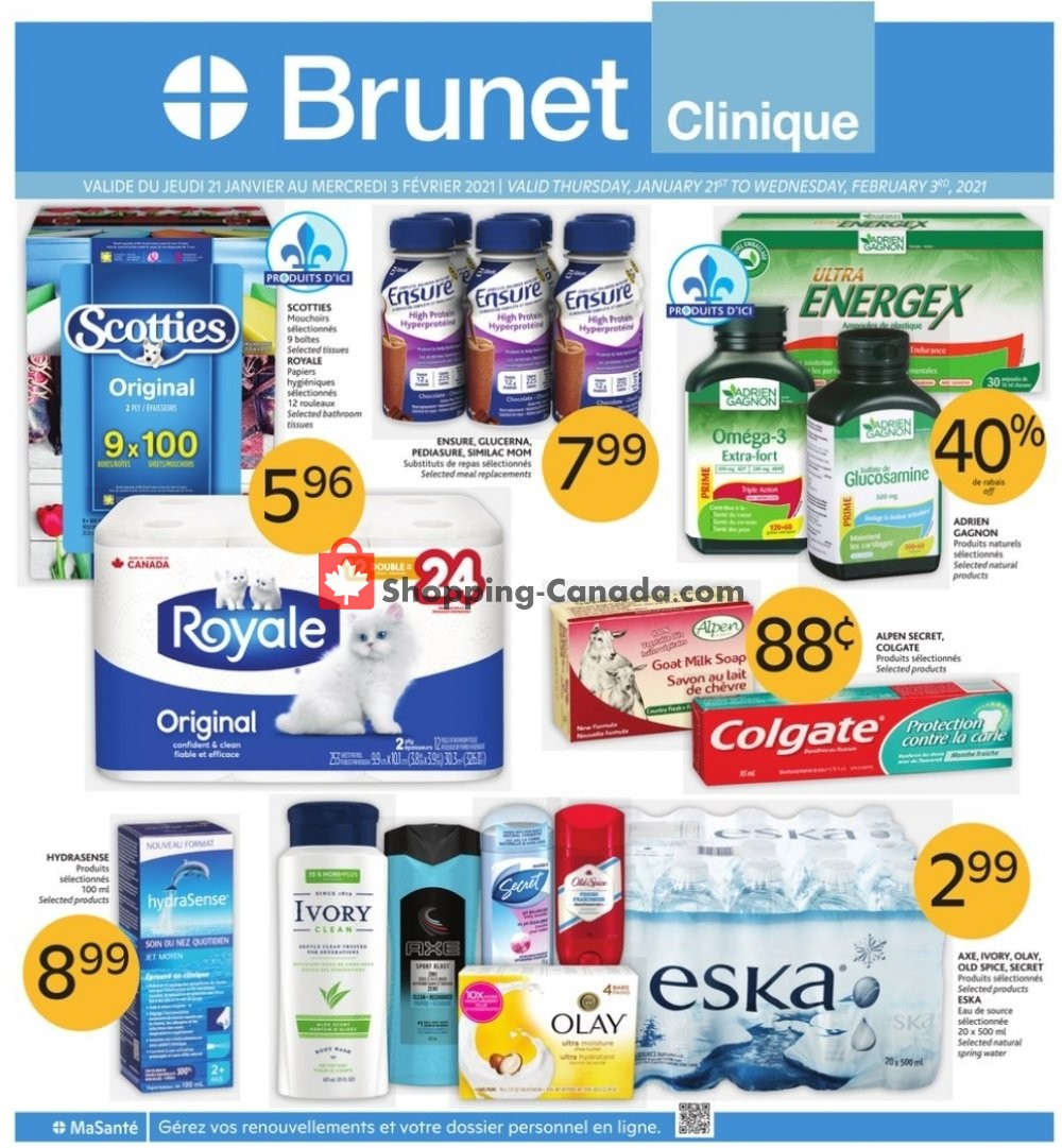 Flyer Brunet Canada - from Thursday January 21, 2021 to Wednesday February 3, 2021