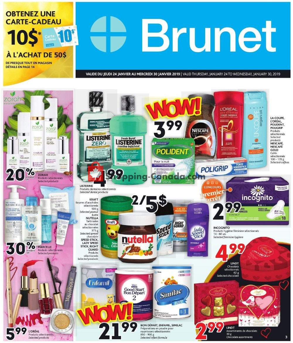 Flyer Brunet Canada - from Thursday January 24, 2019 to Wednesday January 30, 2019
