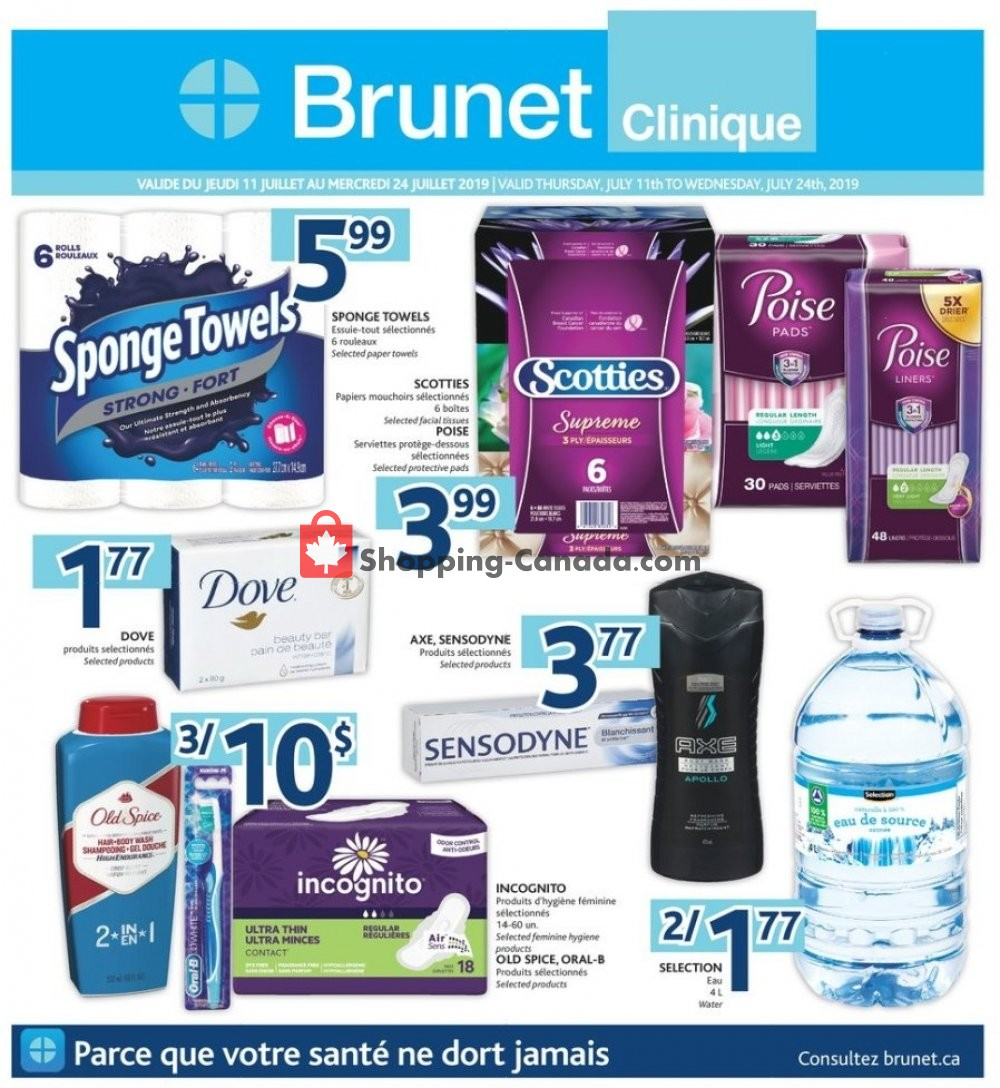 Flyer Brunet Canada - from Thursday July 11, 2019 to Wednesday July 24, 2019