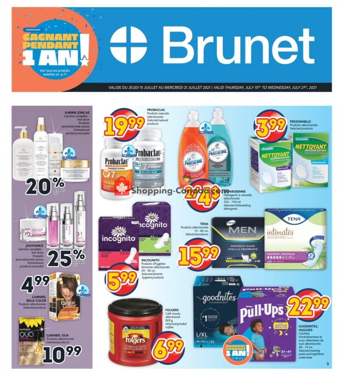 Flyer Brunet Canada - from Thursday July 15, 2021 to Wednesday July 21, 2021