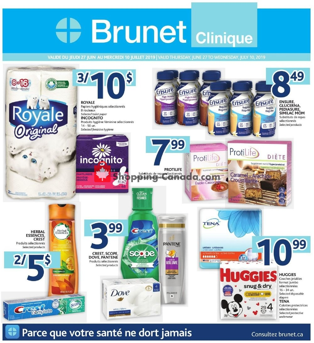 Flyer Brunet Canada - from Thursday June 27, 2019 to Wednesday July 10, 2019
