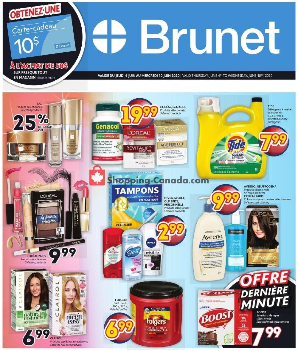 Flyer Brunet Canada - from Thursday June 4, 2020 to Wednesday June 10, 2020