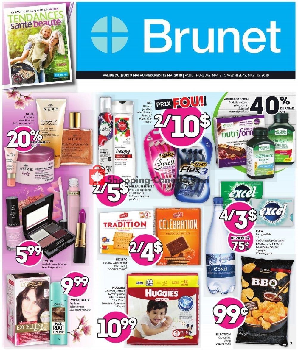 Flyer Brunet Canada - from Thursday May 9, 2019 to Wednesday May 15, 2019