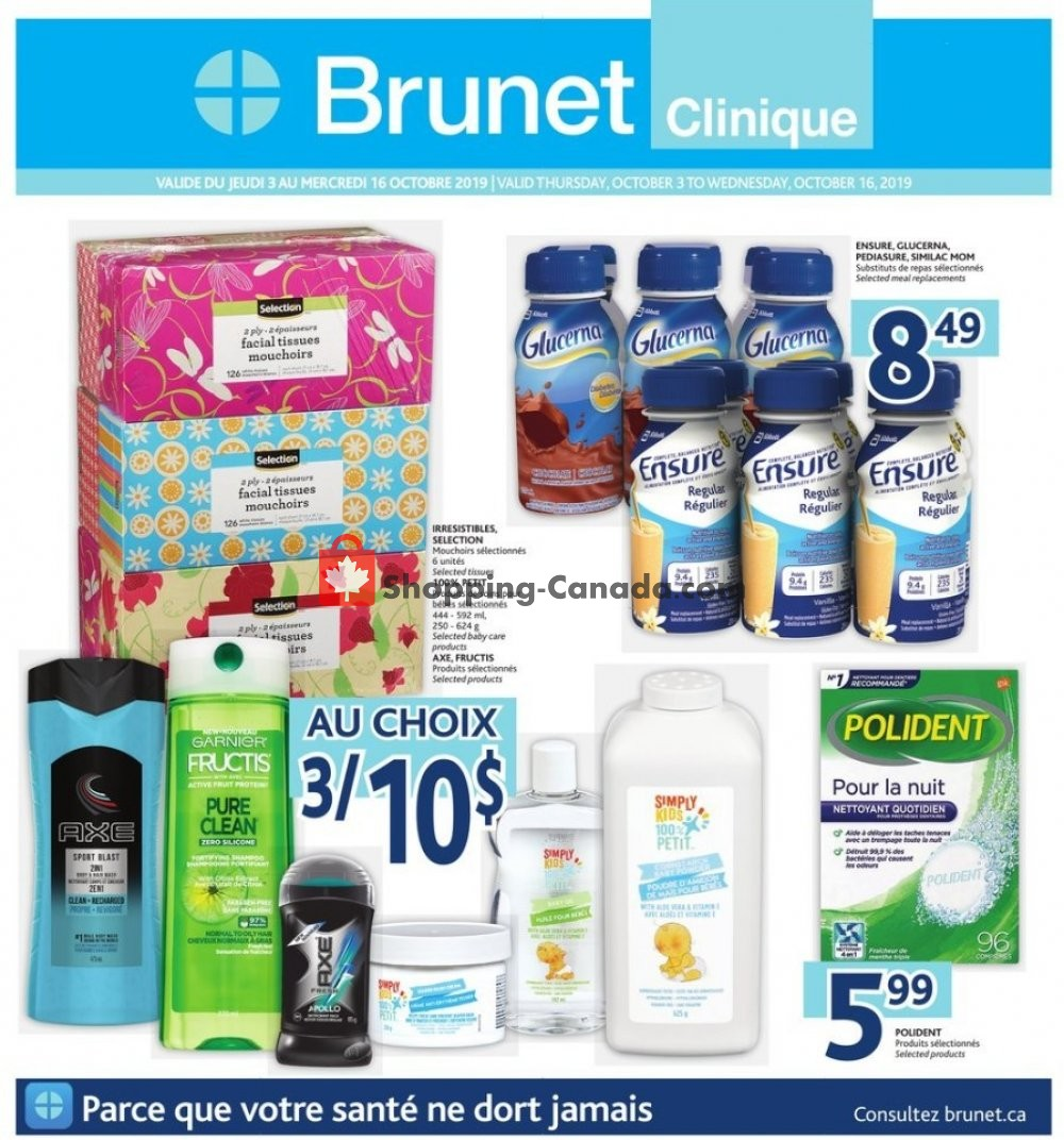 Flyer Brunet Canada - from Thursday October 3, 2019 to Wednesday October 16, 2019