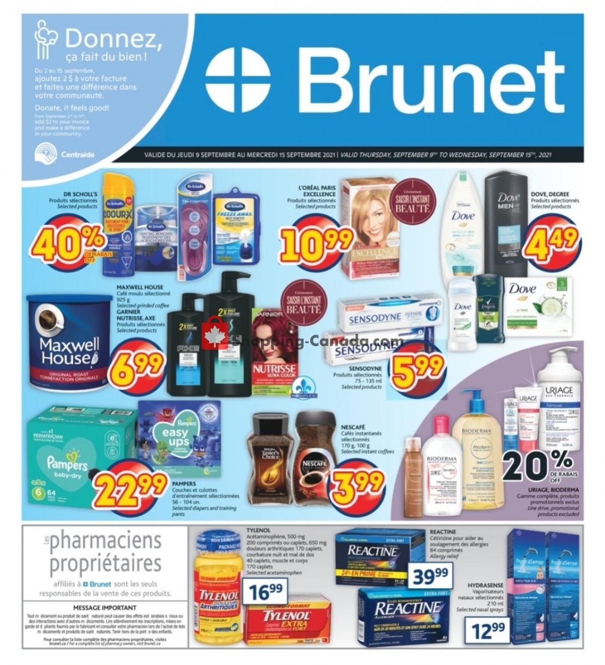 Flyer Brunet Canada - from Thursday September 9, 2021 to Wednesday September 15, 2021