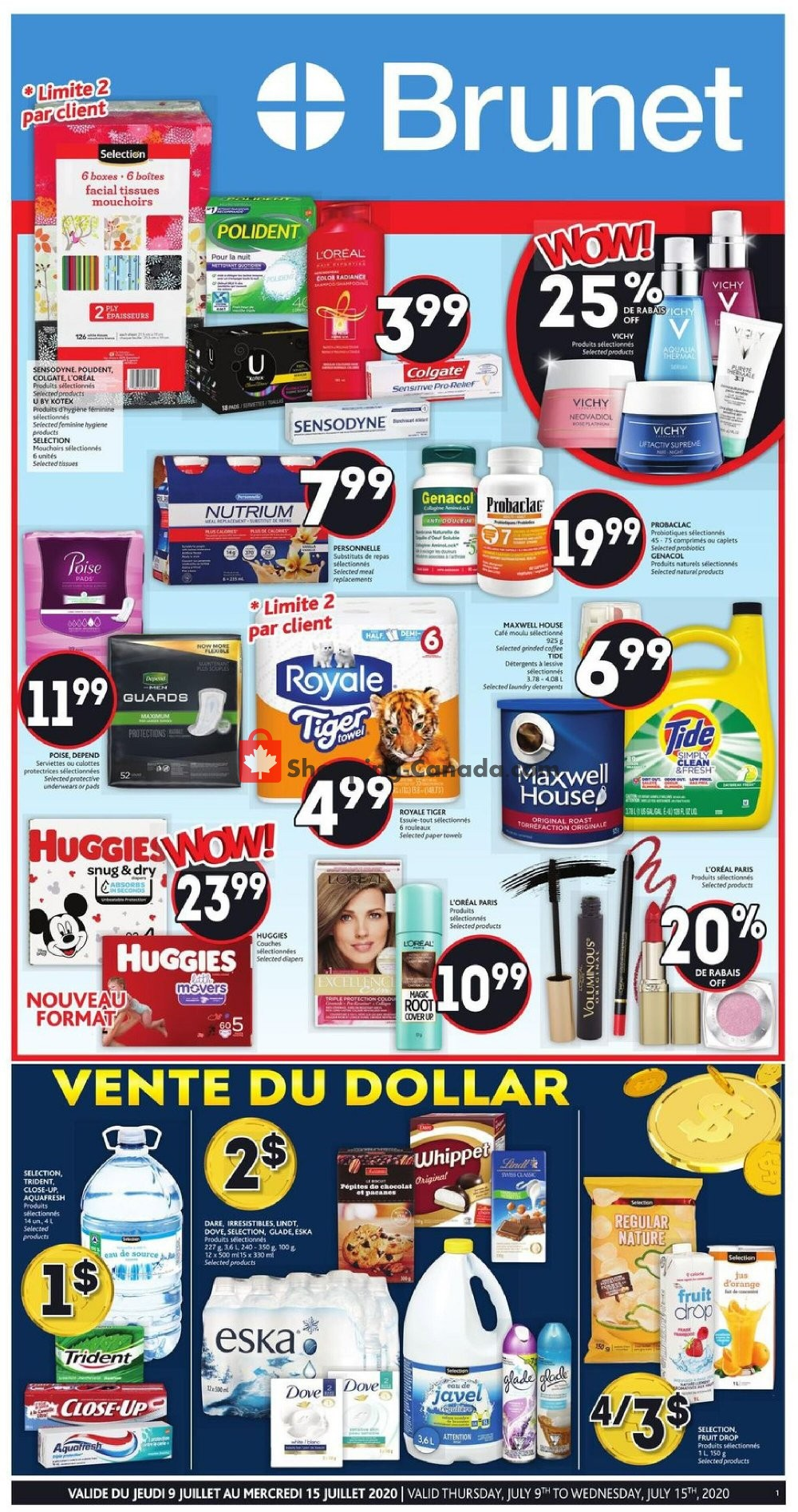 Flyer Brunet Canada - from Thursday July 9, 2020 to Wednesday July 15, 2020