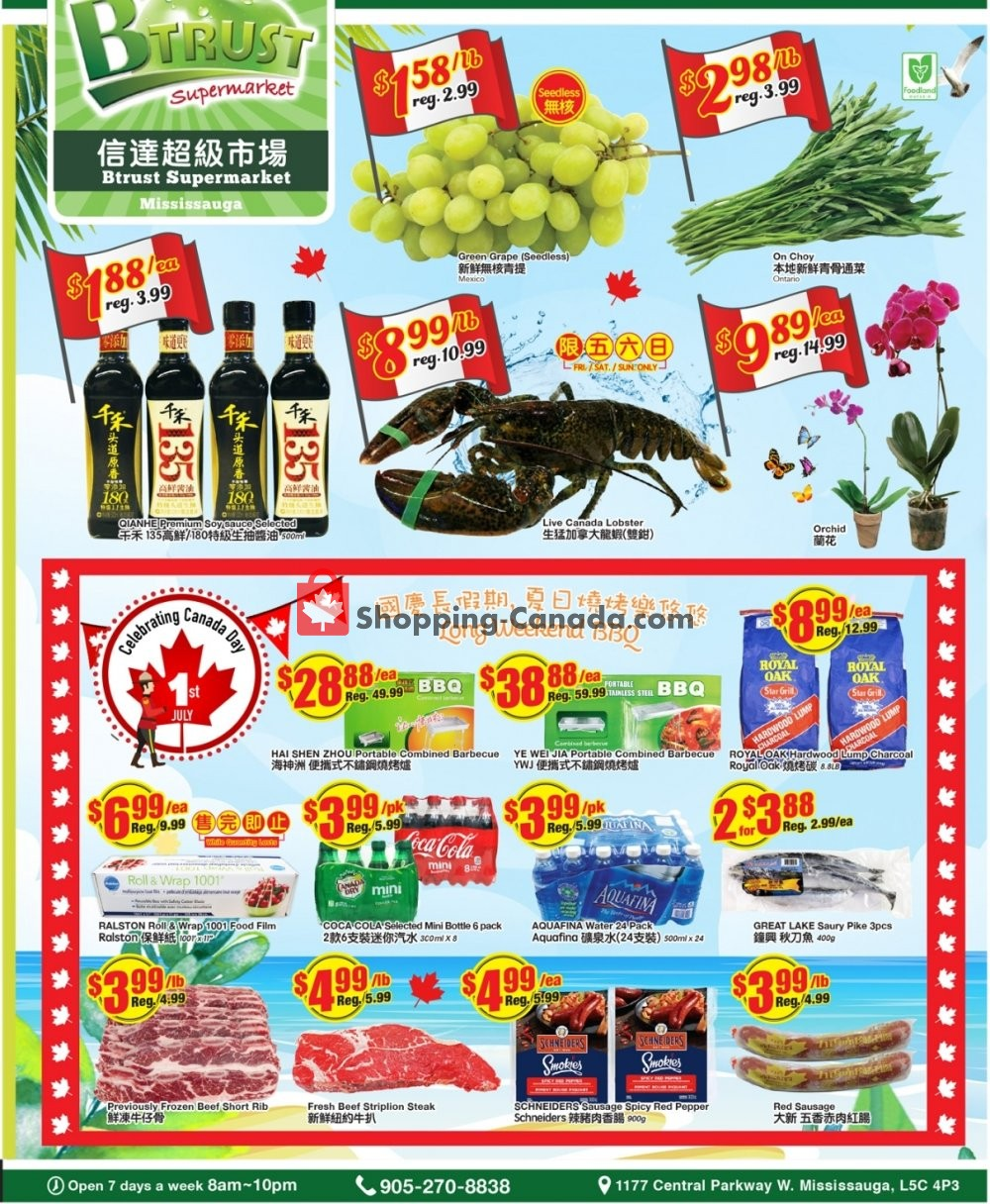 Flyer Btrust Supermarket Canada - from Friday June 28, 2019 to Thursday July 4, 2019