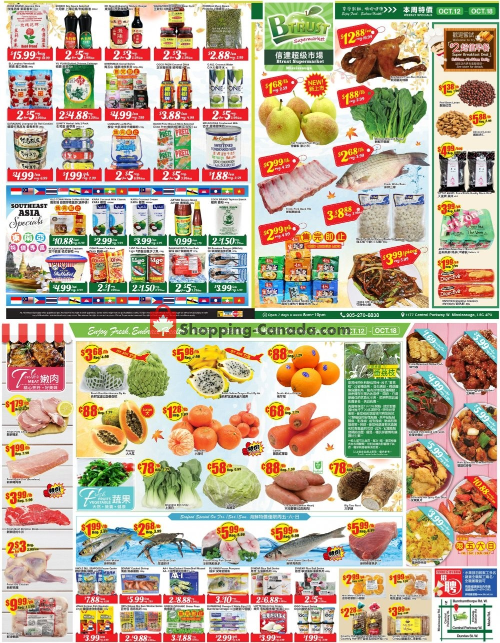 Flyer Btrust Supermarket Canada - from Friday October 12, 2018 to Thursday October 18, 2018