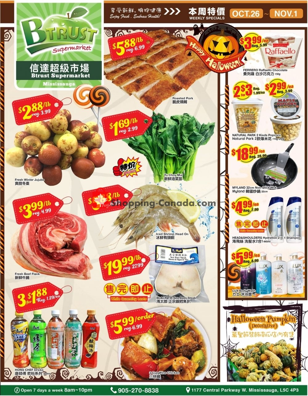 Flyer Btrust Supermarket Canada - from Friday October 26, 2018 to Thursday November 1, 2018