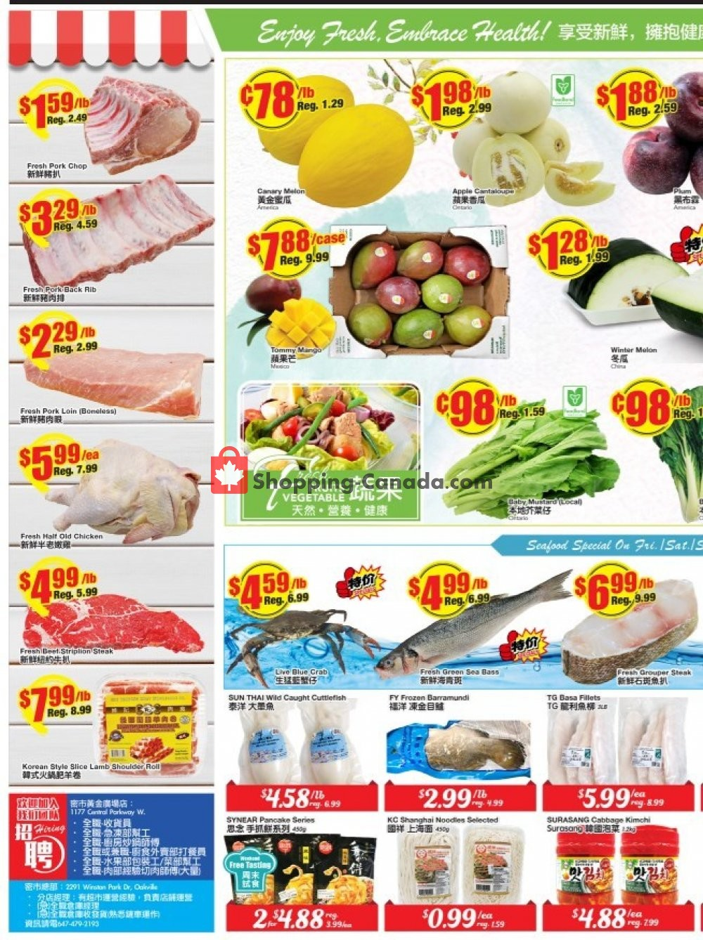 Flyer Btrust Supermarket Canada - from Friday August 9, 2019 to Thursday August 15, 2019