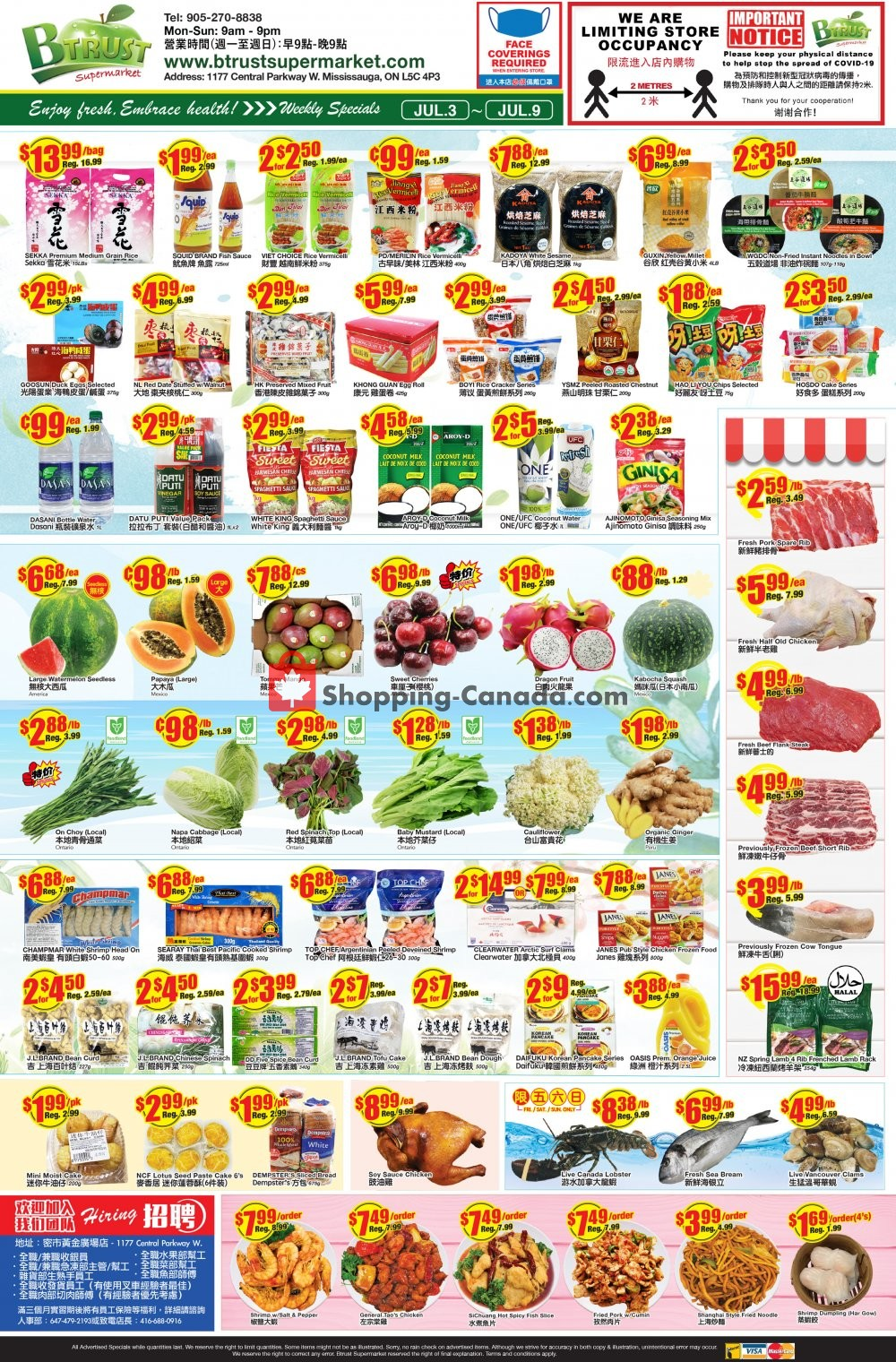 Flyer Btrust Supermarket Canada - from Friday July 3, 2020 to Thursday July 9, 2020