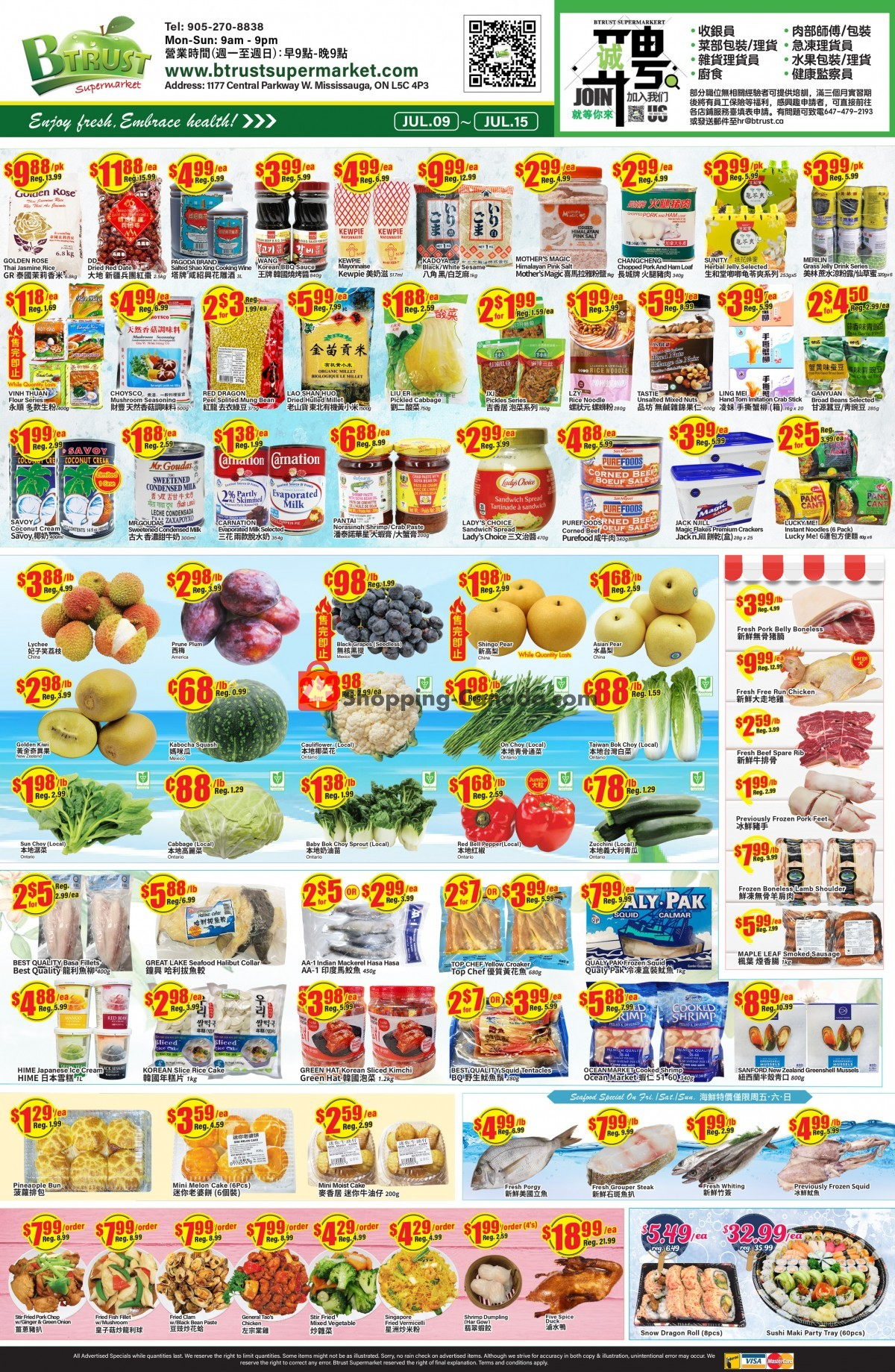 Flyer Btrust Supermarket Canada - from Friday July 9, 2021 to Thursday July 15, 2021