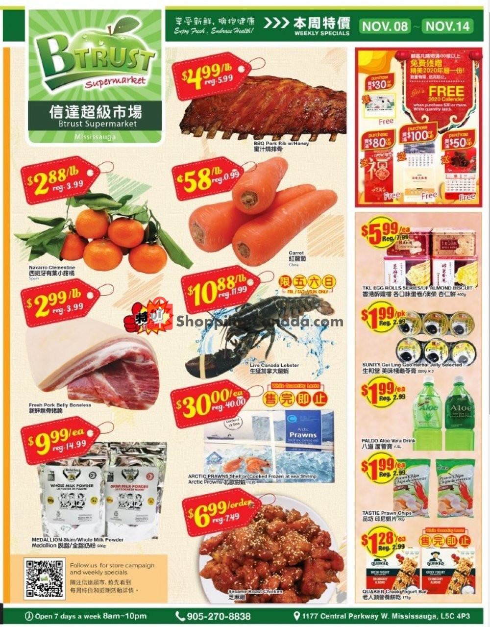 Flyer Btrust Supermarket Canada - from Friday November 8, 2019 to Thursday November 14, 2019