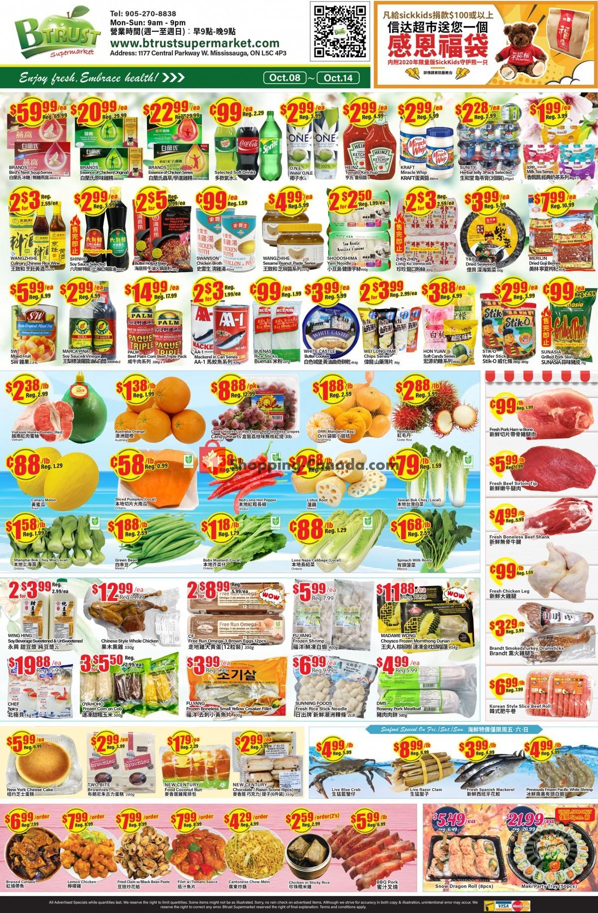 Flyer Btrust Supermarket Canada - from Friday October 8, 2021 to Thursday October 14, 2021
