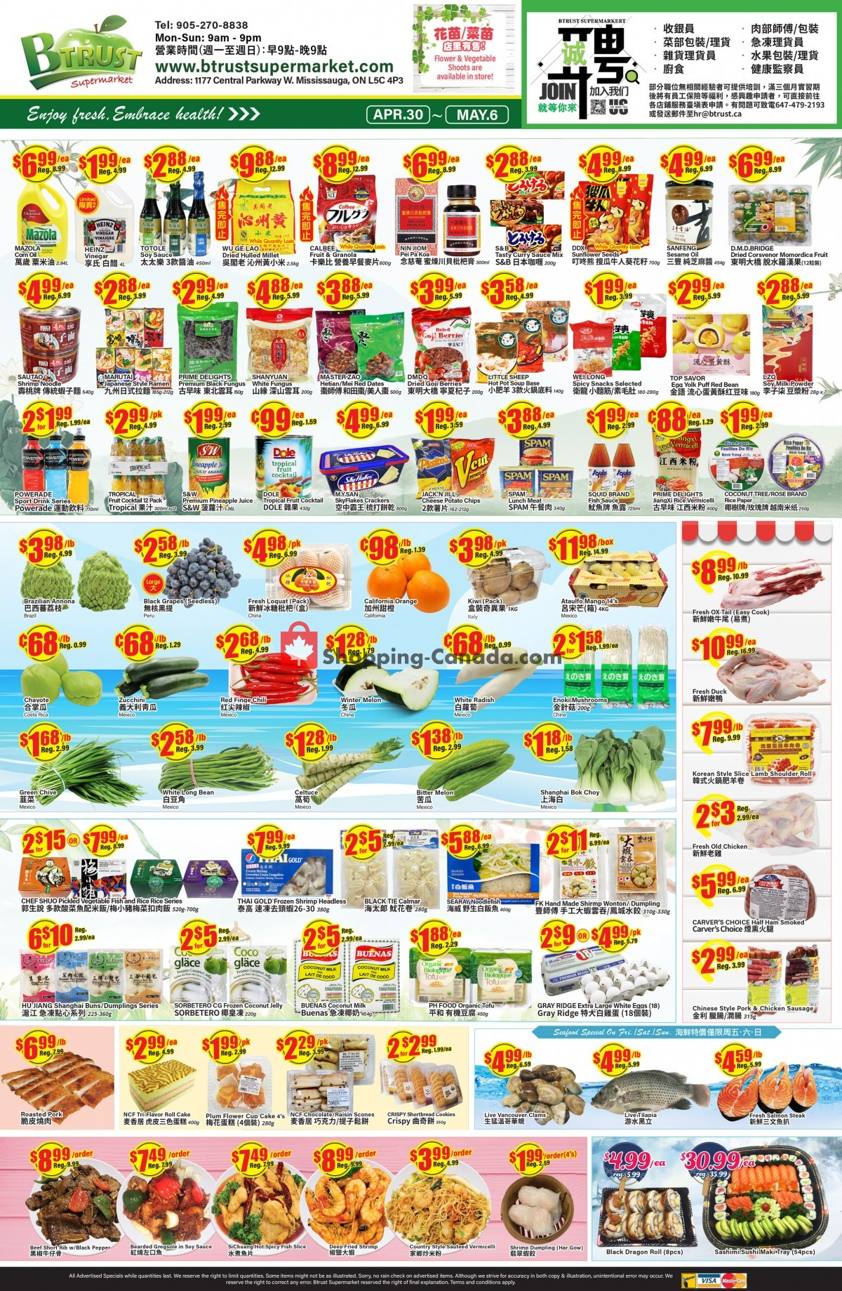 Flyer Btrust Supermarket Canada - from Friday April 30, 2021 to Thursday May 6, 2021