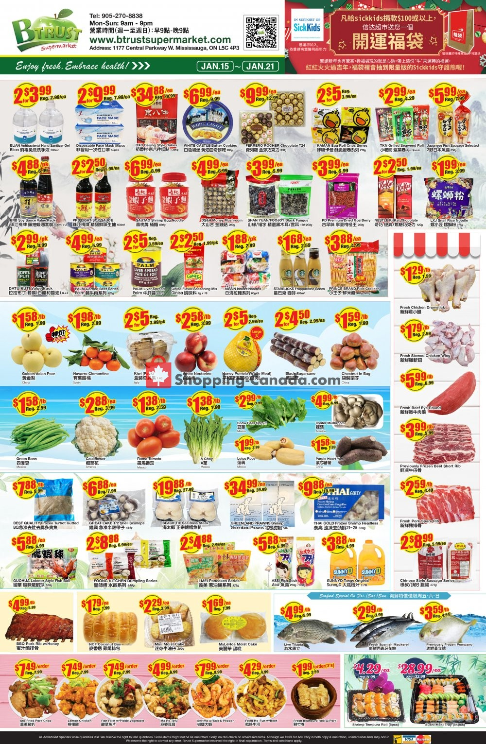 Flyer Btrust Supermarket Canada - from Friday January 15, 2021 to Thursday January 21, 2021
